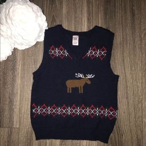 Baby Gap Moose Sweater Vest